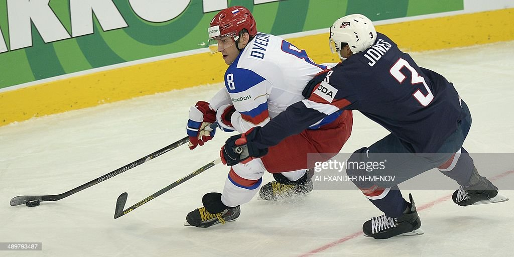 IHOCKEY-WORLD-RUS-USA : News Photo