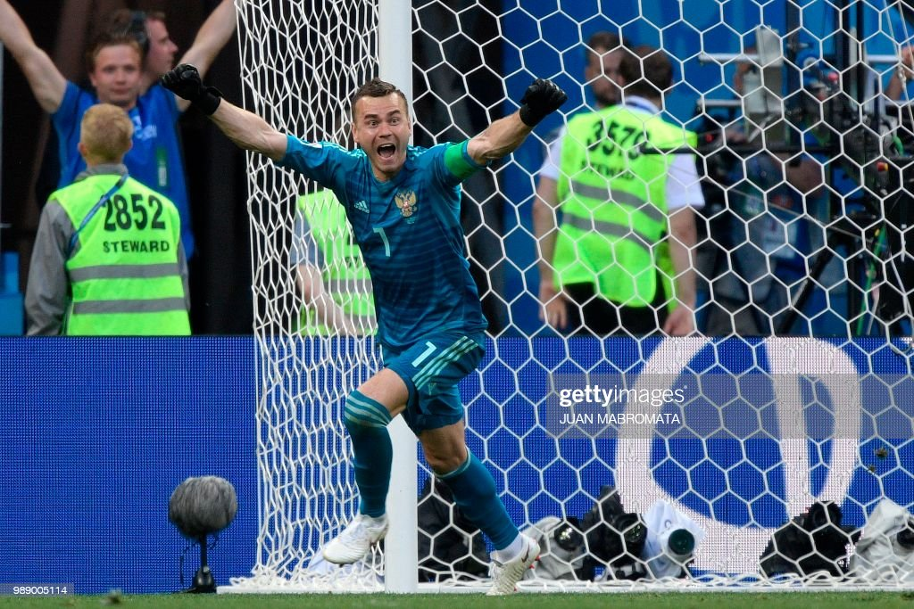 TOPSHOT-FBL-WC-2018-MATCH51-ESP-RUS : News Photo