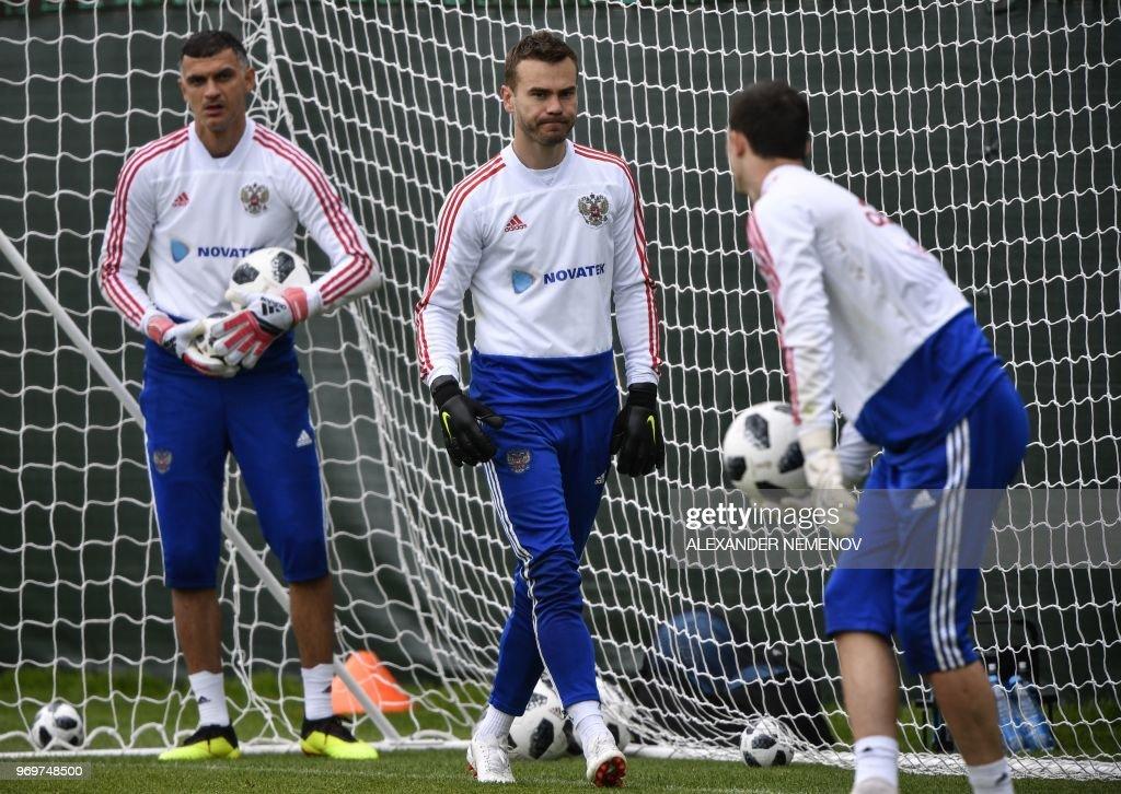 01bf20b55c2 Russia s goalkeepers Vladimir Gabulov