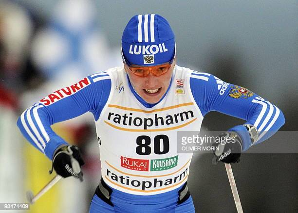 Russia's Irina Khazova skis to...