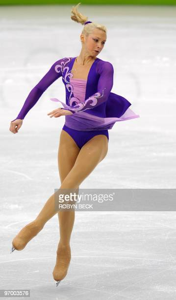 Russia's Ksenia Makarova competes in the 2010 Winter Olympics women's figure skating short program at the Pacific Coliseum in Vancouver on February...