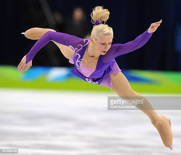 Russia's Ksenia Makarova performs in the Ladies' Figure Skating Short Program in Vancouver during the 2010 Winter Olympics on February 23 2010 AFP...