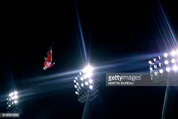 TOPSHOT Russia's Liubov Nikitina competes in the women's aerials qualification event during the Pyeongchang 2018 Winter Olympic Games at the Phoenix...
