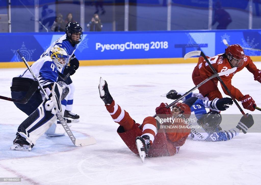 IHOCKEY-OLY-2018-PYEONGCHANG-RUS-FIN : News Photo
