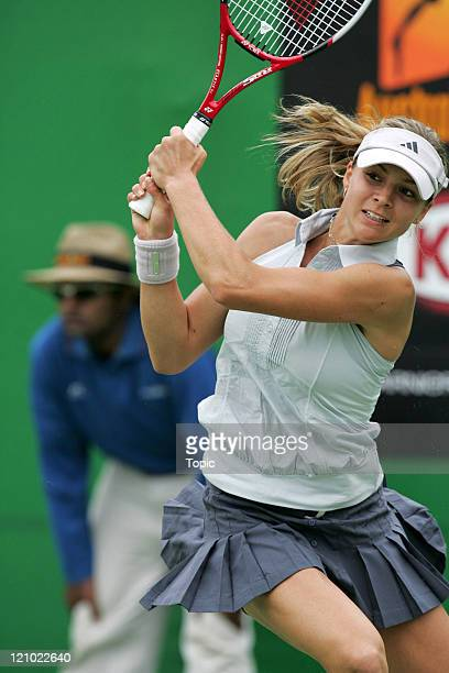 Russia's Maria Kirilenko during her second round win against Ukraine's Julia Vakulenko at the 2007 Australian Open at Melbourne Park in Melbourne...