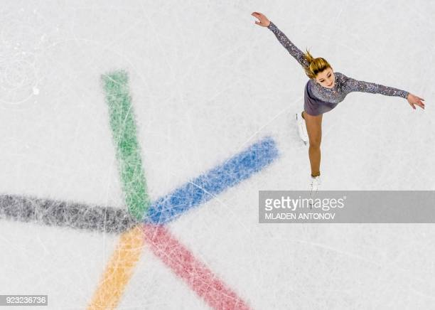 Russia's Maria Sotskova competes in the women's single skating free skating of the figure skating event during the Pyeongchang 2018 Winter Olympic...
