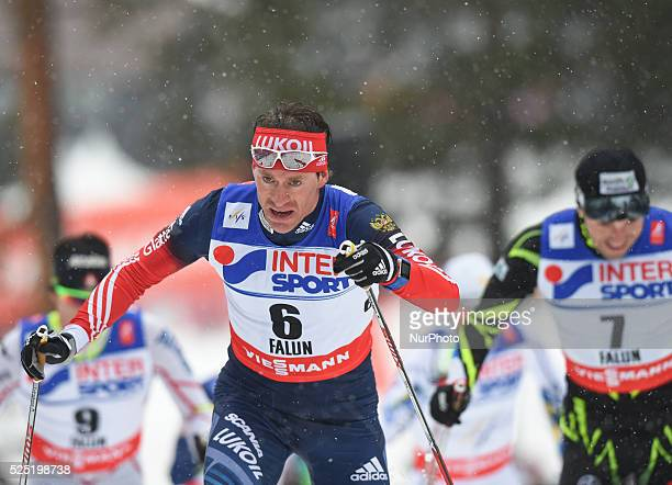 Russia's Maxim Vylegzhanin in action during Men 50km Classic, at FIS Nordic World Ski Championship 2015 in Falun., Sweden. 1 March 2015. Photo by...