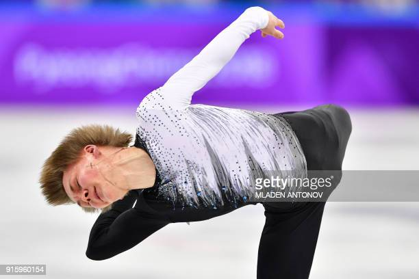 Russia's Mikhail Kolyada competes in the figure skating team event men's single skating short program during the Pyeongchang 2018 Winter Olympic...