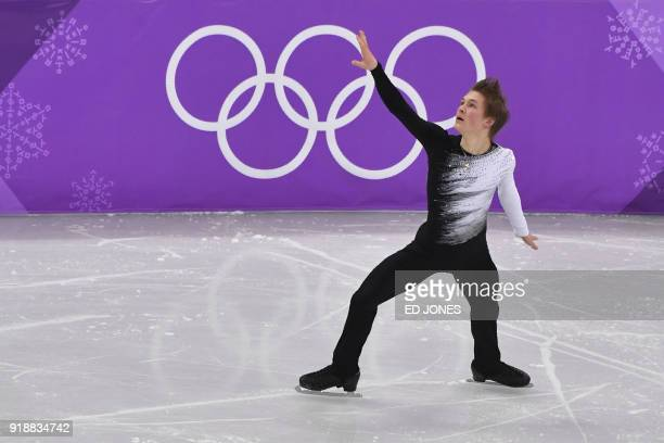 Russia's Mikhail Kolyada competes in the men's single skating short program of the figure skating event during the Pyeongchang 2018 Winter Olympic...