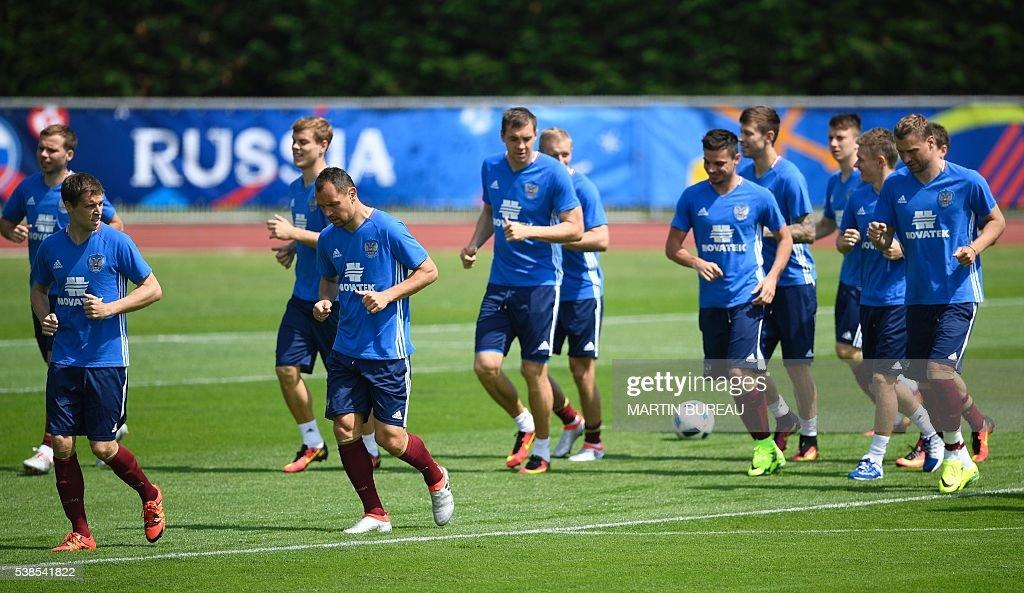 FBL-EURO-2016-RUS-TRAINING : News Photo