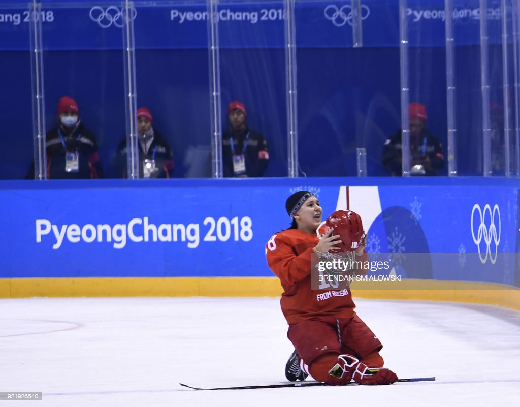 TOPSHOT-IHOCKEY-OLY-2018-PYEONGCHANG-RUS-FIN : News Photo
