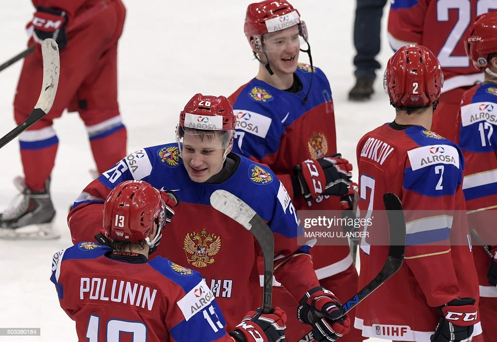 IHOCKEY-U20-RUS-USA : News Photo