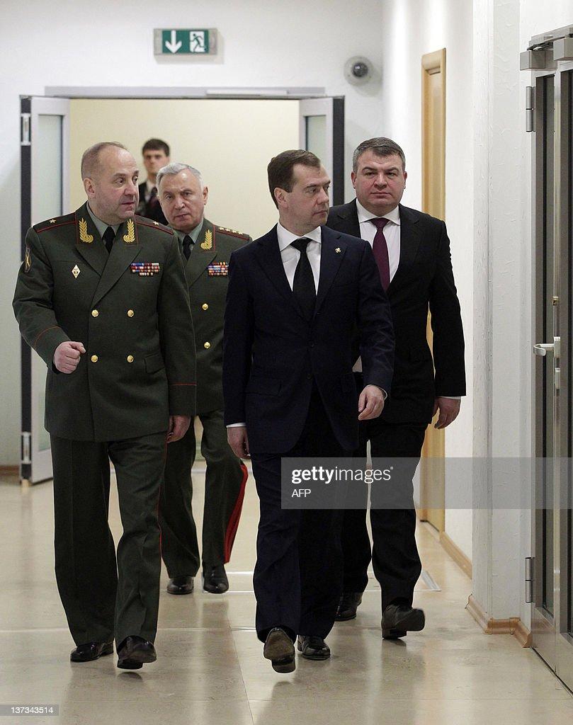 Russia's President Dmitry Medvedev (2nd : News Photo