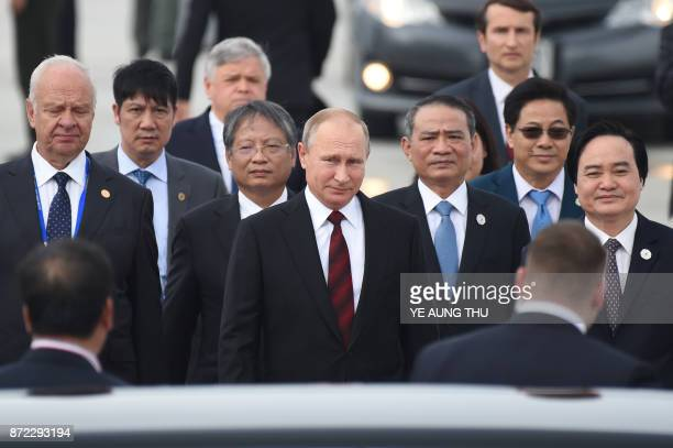 TOPSHOT Russia's President Vladimir Putin arrives at the international airport ahead of the AsiaPacific Economic Cooperation Summit in the central...