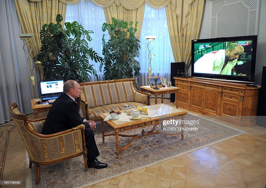 OLY-2012-PARALYMPICS-JUDO-MEN-RUSSIA-PUTIN : News Photo