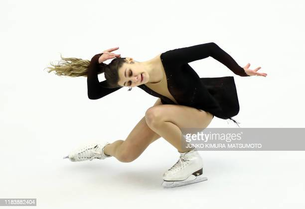 TOPSHOT Russia's Sofia Samodurova performs during the Ladies Short Program at the Grand Prix of Figure Skating 2019/2020 NHK Trophy in Sapporo on...