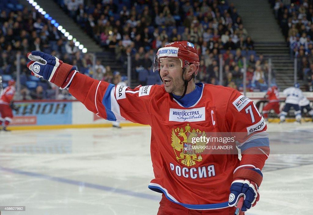IHOCKEY-FIN-RUS : News Photo