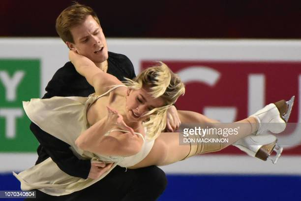 Russia's Victoria Sinitsina and Nikita Katsalapov perform in the Senior Ice Dance program at the ISU Grand Prix of Figure Skating Final 201819 in...