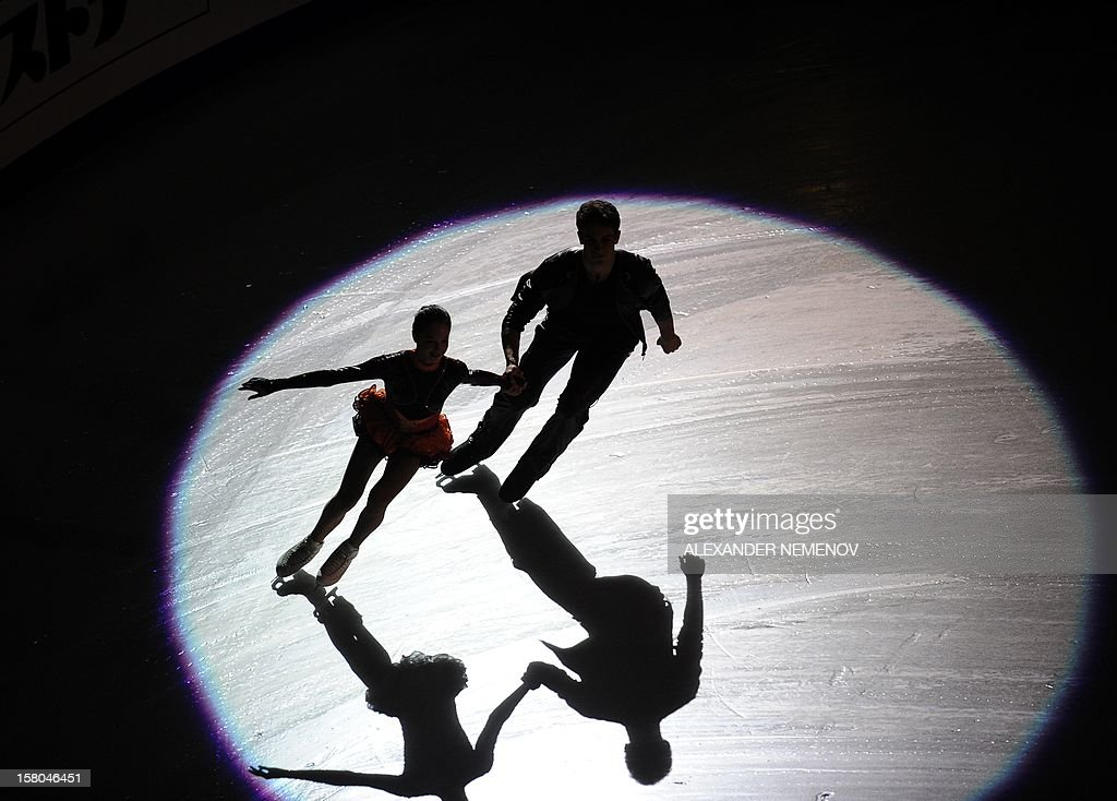 Russia's Vilisa Davankova and Andrei Deputat perform during gala exhibition at the ISU Grand Prix of Figure Skating Final in Sochi on December 9, 2012.