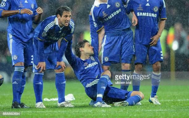 UEFA Champions League Saison 2007/2008 Finale Manchester United FC Chelsea 76 nach Elfmeterschiessen Chelseas Spieler enttaeuscht nach dem...