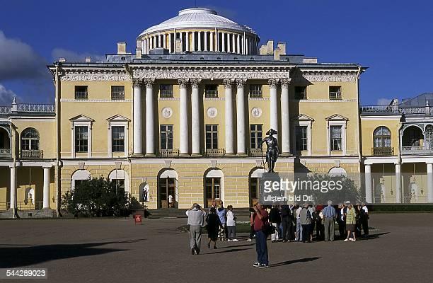 Russland St Petersburg Schloss und Parkanlage Peterhof Grosser Palast September 2006