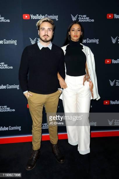 Russo Schelling and Janina Gavankar attend The Game Awards 2019 at Microsoft Theater on December 12 2019 in Los Angeles California