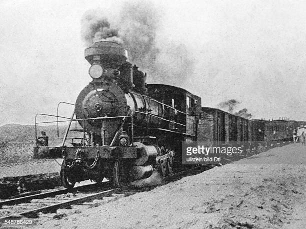 RussoJapanese War 1904/1905 Delivery of supplies to the Manchurian theatre by a train of the TransSiberian Railway 1904 Vintage property of ullstein...