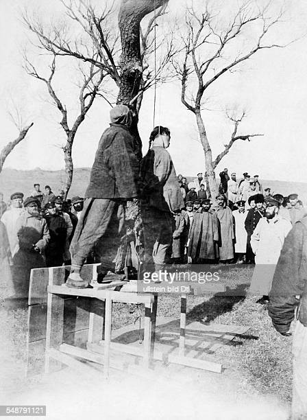 RussoJapanese War 1904/1905 Manchuria China execution of 'spies' by the Russian military late 1904 Vintage property of ullstein bild