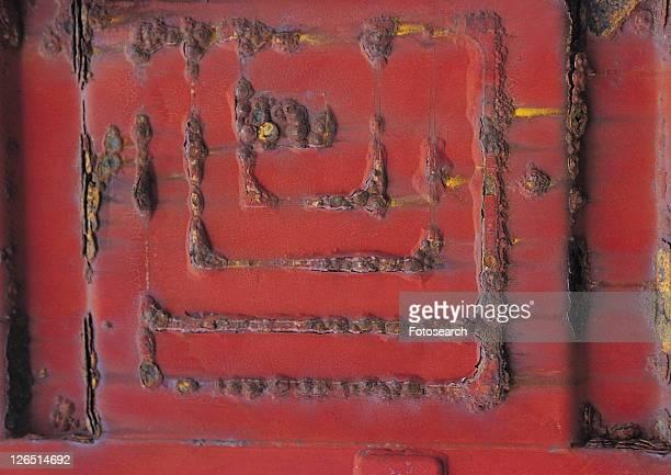 rust, metal, number, structure, material, iron - rust colored - fotografias e filmes do acervo