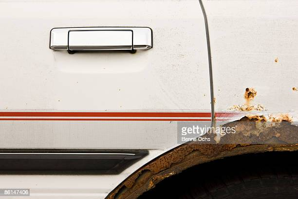 rusted car, close up - rusty stock pictures, royalty-free photos & images