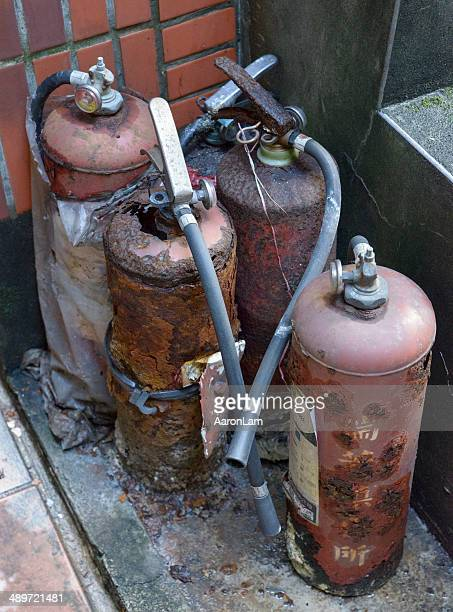 Rusted fire extinguishers