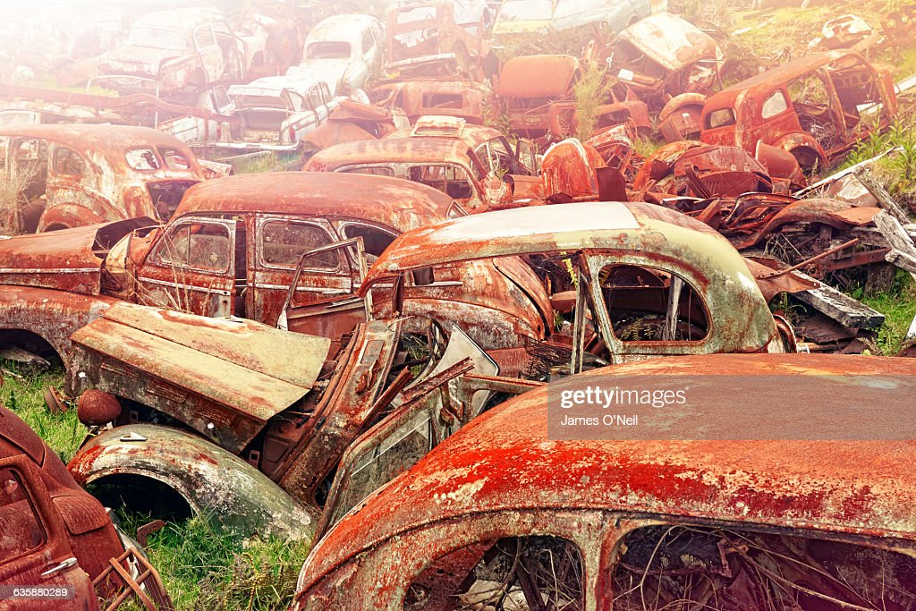 Rusted Old Classic Cars Stock Photo | Getty Images