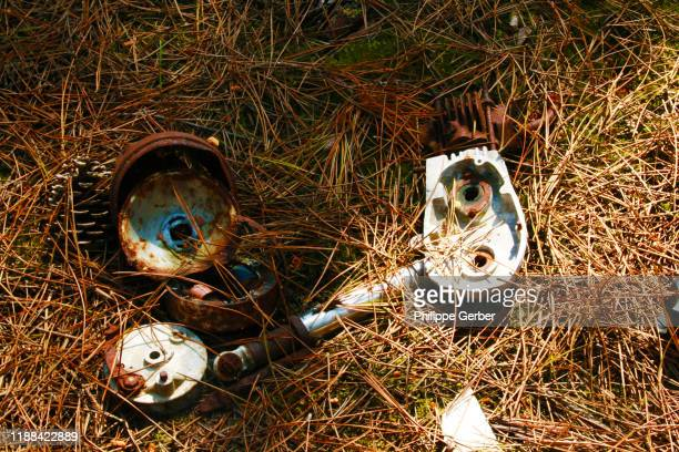 rusted pieces of metal - sarthe stock pictures, royalty-free photos & images