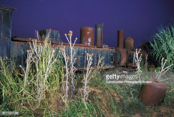 Rusted tones on the locomotive dump at Vartholomio on the Greek Peloponnese The two Z Class 260S are No 7504 left SA Graffenstaden 1890 and right No...