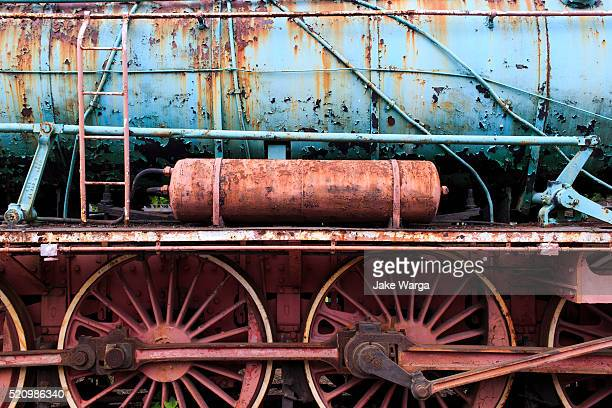 rusted train, warsaw, poland - jake warga stock photos and pictures