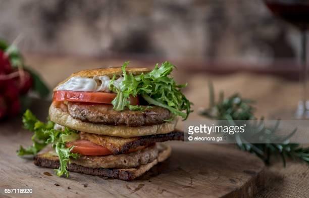 rustic and genuine burger