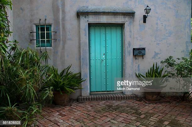 rustic artsy doorway and courtyard