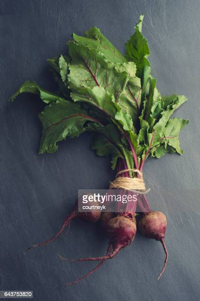 Rustic Beet bunch with string.
