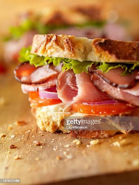 Rustic Black Forest Ham Sandwich
