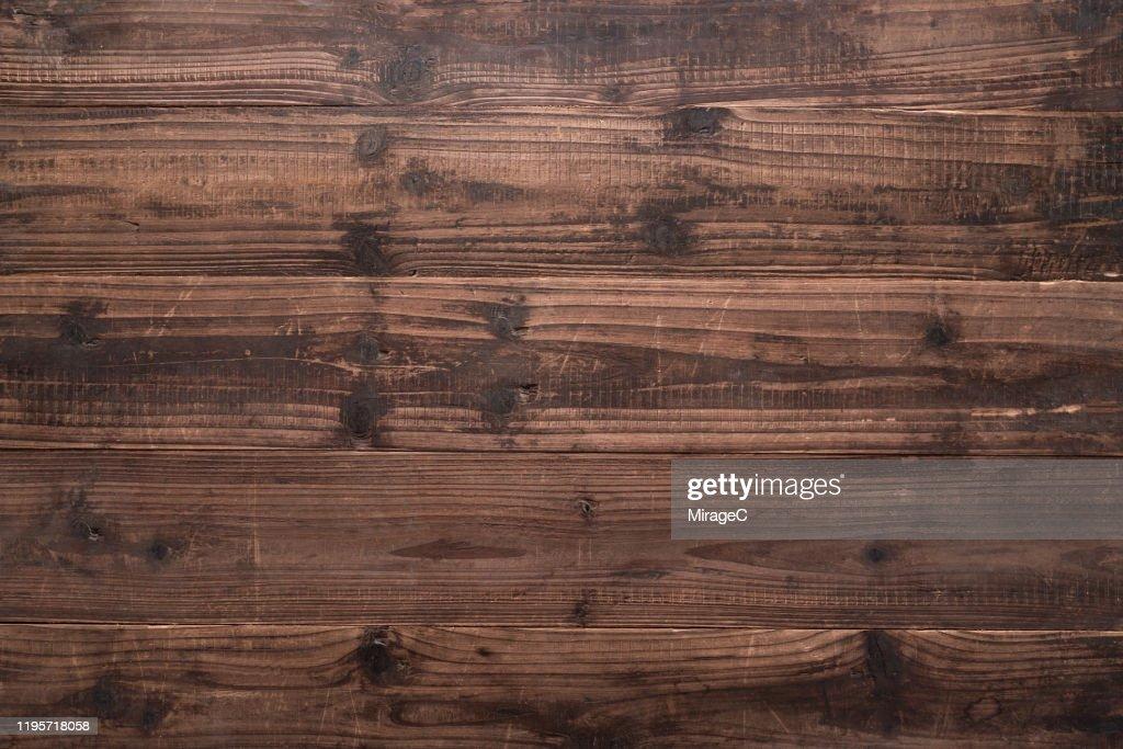 Rustic Brown Weathered Wood Grain : Stock Photo