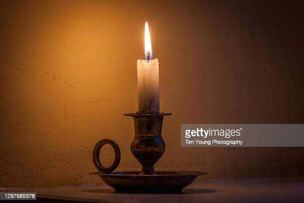 rustic candle - candle stock pictures, royalty-free photos & images