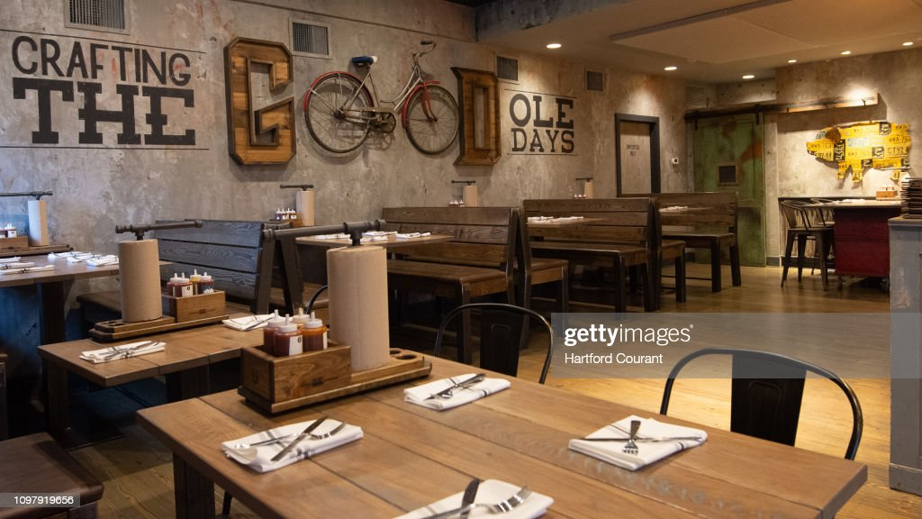 Rustic Decor And Chalkboard Art Decorate The Walls Of Que Whiskey News Photo Getty Images