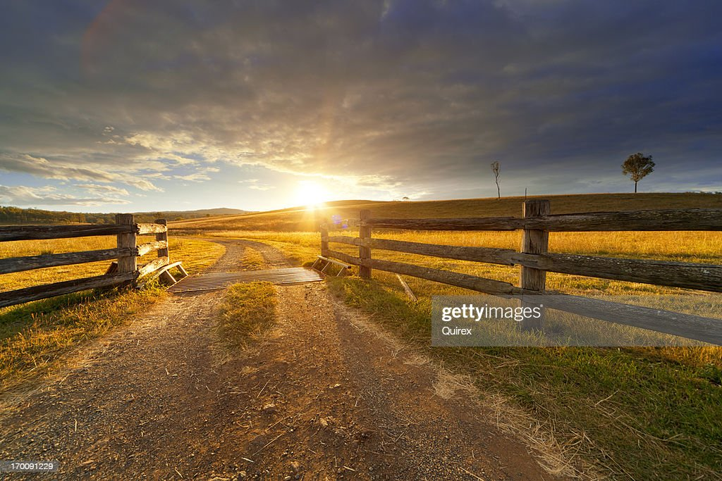 Rustic Farm Stock Photo