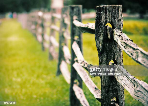 rustic fence - fairfax county virginia stock photos and pictures