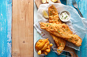 Rustic fish and chips
