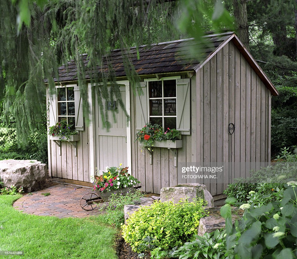 Rustic Garden shed : Stock Photo