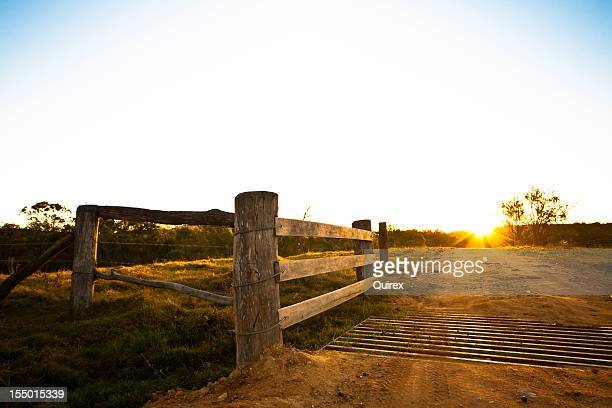 Rustic gate at an Australian farmhouse