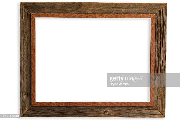 Rustic Handmade Barnwood Frame with Clipping Path
