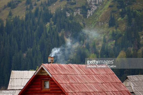 Rustic House Against Mountain
