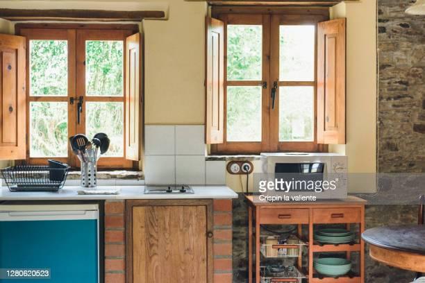 rustic kitchen - rústico - fotografias e filmes do acervo